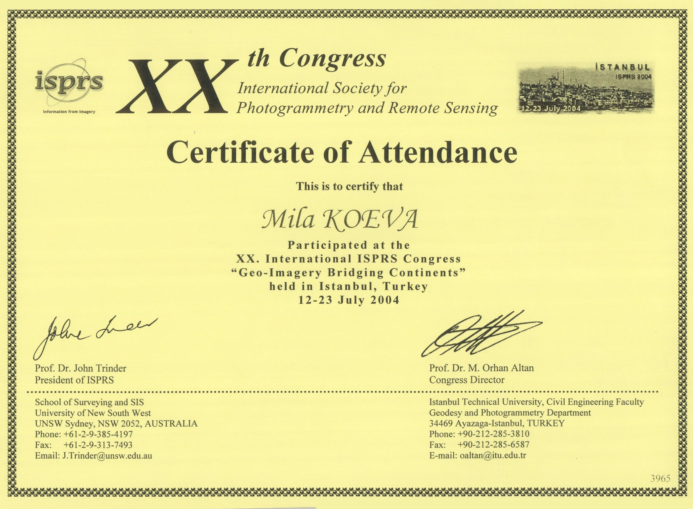 Education mila koeva personal web page certificate 1betcityfo Image collections